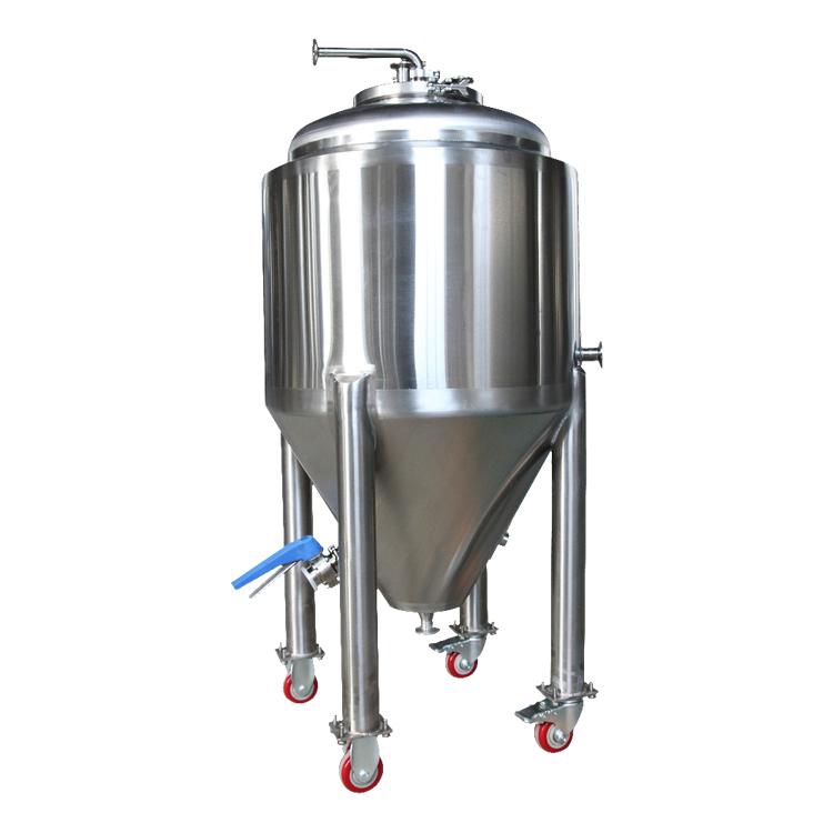 用于酿酒厂的500L不锈钢锥形啤酒发酵罐